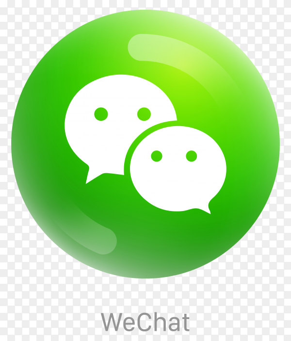 Wechat icon design in green color on transparent background PNG