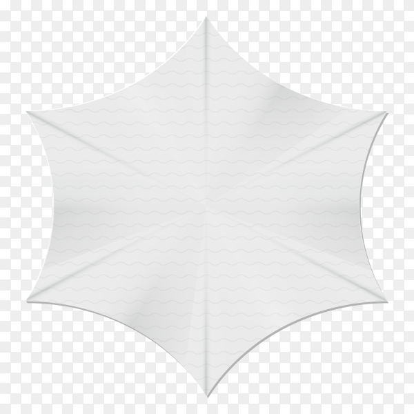 White banner style on transparent background PNG