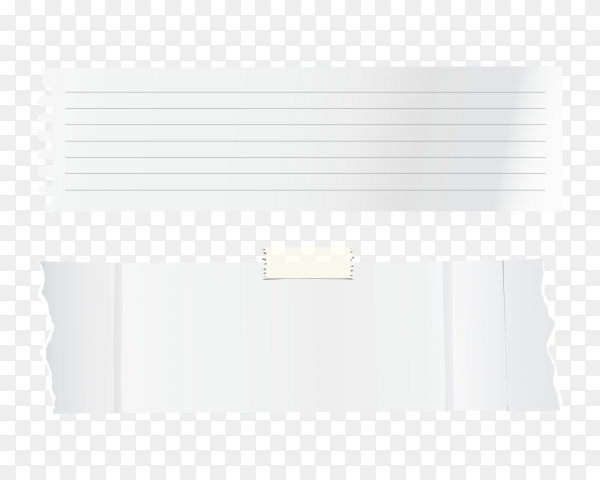 White paper banner design on transparent background PNG