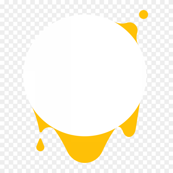 White round banner design on transparent background PNG