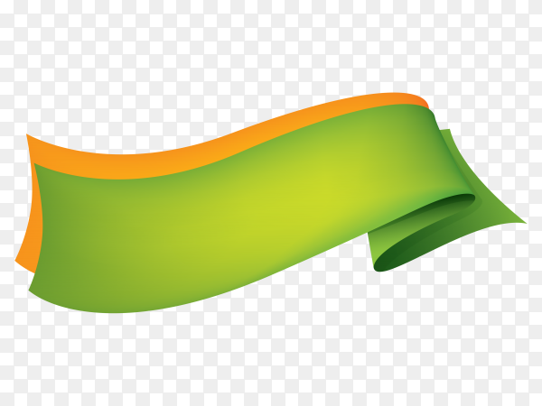 Abstract green banner on transparent background PNG