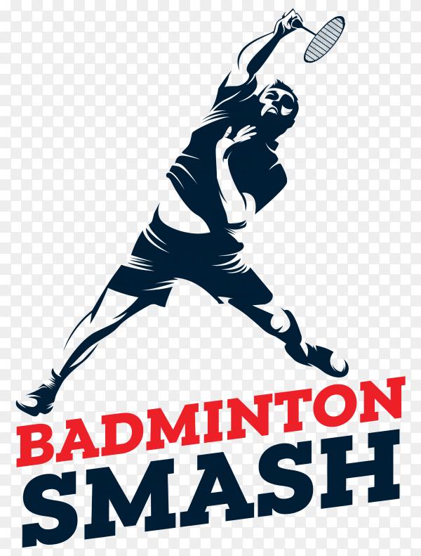 Badminton logo on transparent background PNG