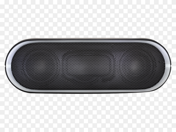 Black Bluetooth speaker with lights  premium vector PNG