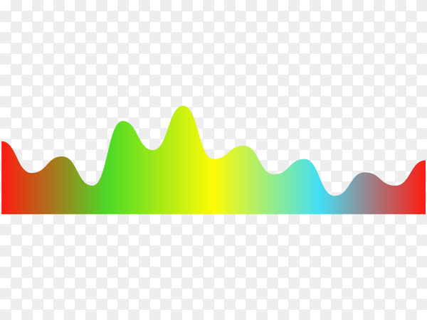 Colorful Music equalizers, audio or radio waves on transparent background PNG