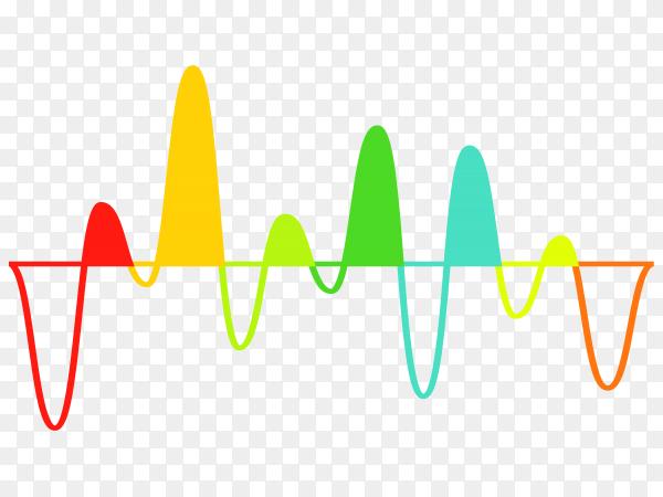 Colorful sound wave music equalizer on transparent background PNG