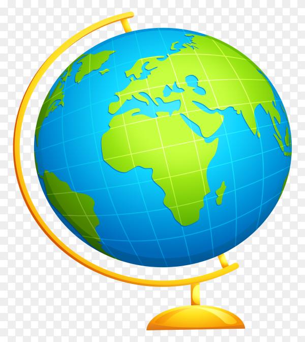 Globe illustration on transparent backgroudn PNG - Similar PNG