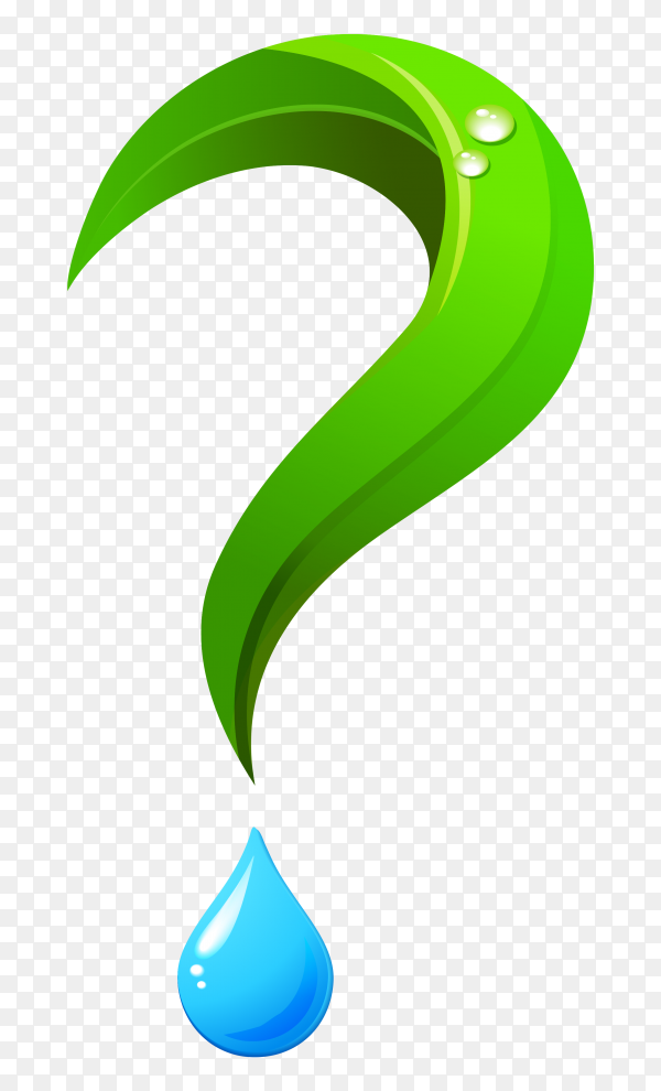 Green Question mark isolated on transparent background PNG ...