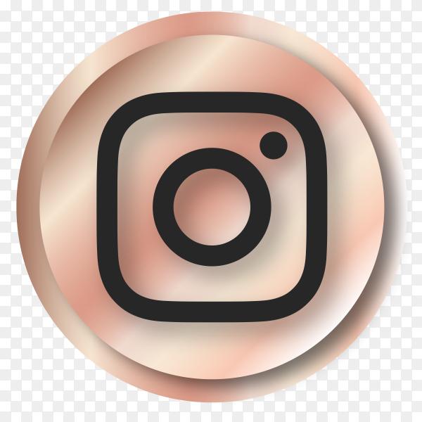 Luxury Instagram logo on transparent background PNG