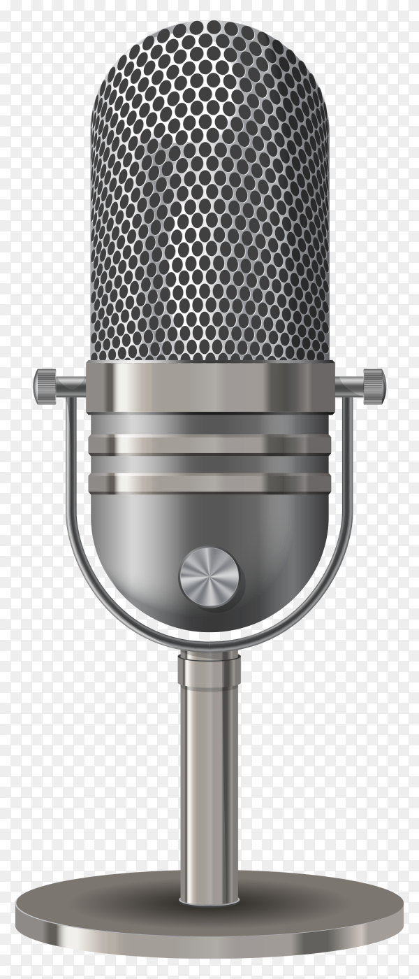Microphone isolated on transparent background PNG