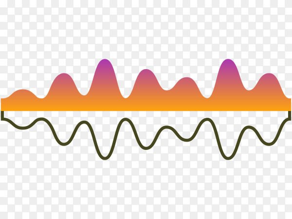 Music equalizer, audio analog waves, studio sound frequency, music player waveform premium vector PNG