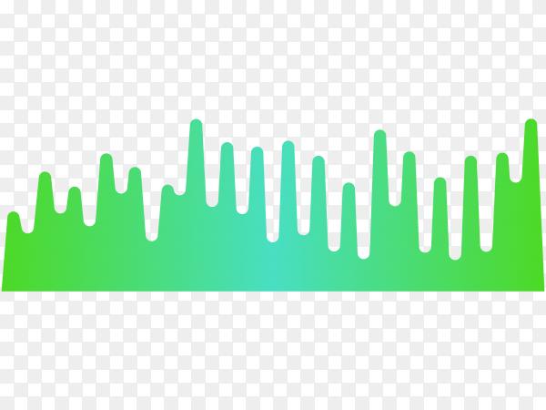 Music equalizer, audio analog waves on transparent background PNG
