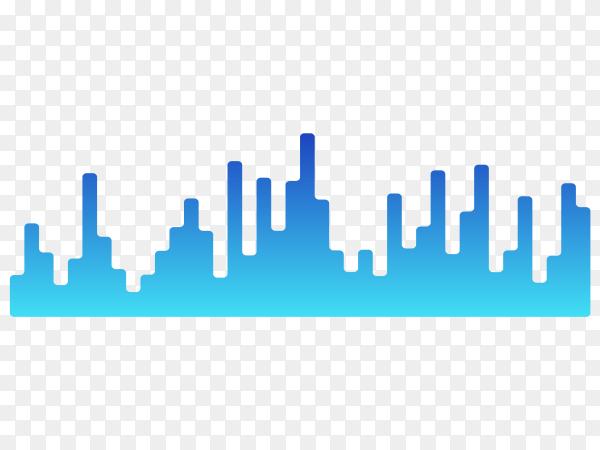 Music equalizers design on transparent background PNG