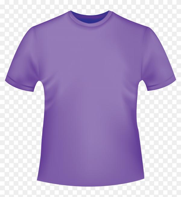 Purple t-shirt mockup on transparent background PNG