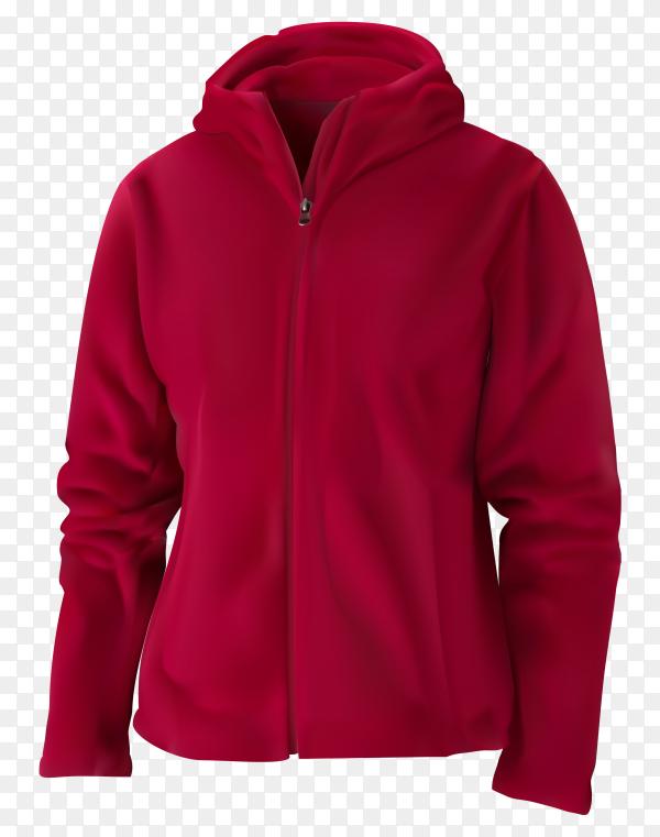 Red sweatshirt illustration on transparent background PNG