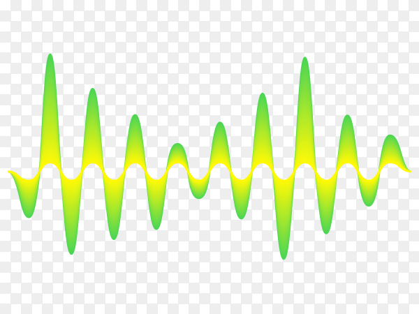 Sound audio wave from music equalizer on transparent background PNG