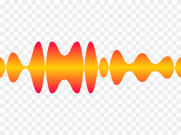 Sound audio wave from music equalizer premium vector PNG