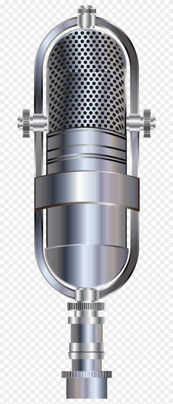 karaoke party microphone on transparent background PNG