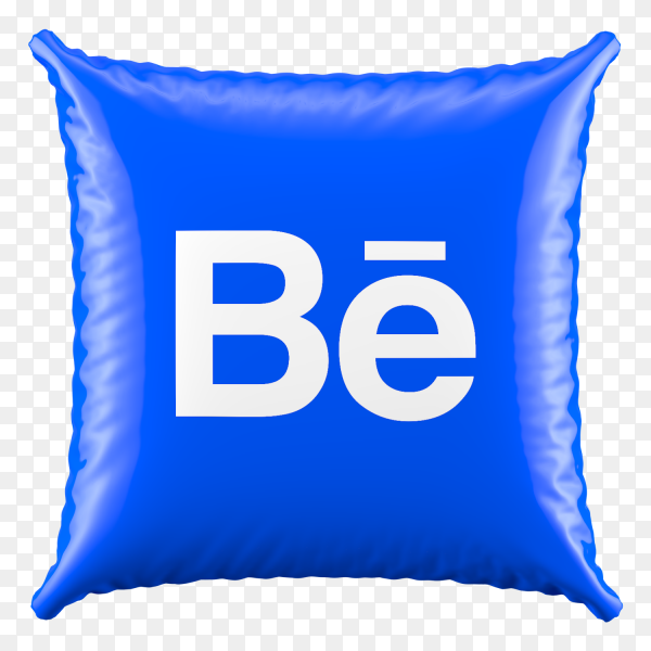 3D Pillow Behance icon on transparent background PNG