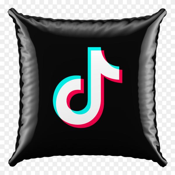 3D Pillow Tiktok icon on transparent background PNG