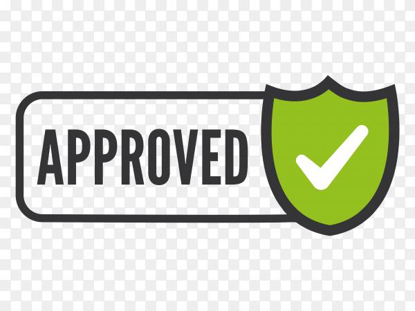 Approved stamp on transparent background PNG
