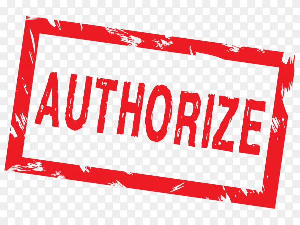 Authorize stamp template on transparent background PNG