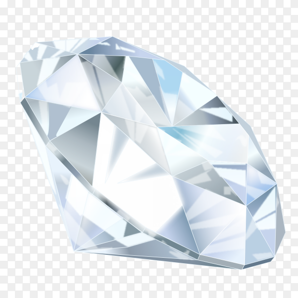 Awesome diamond in realistic design on transparent background PNG