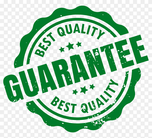 Best quality guarantee rubber label seal stamp on transparent background PNG