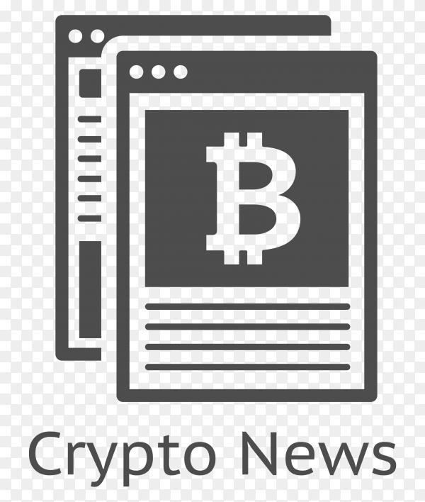 Bitcoin Crypto News icon premium vector PNG