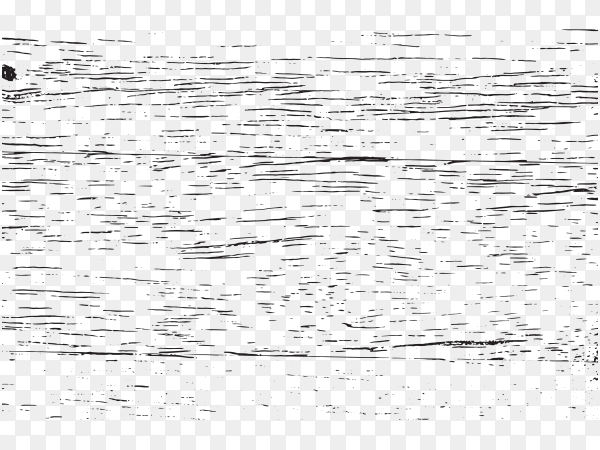 Black and white grunge texture on transparent background PNG