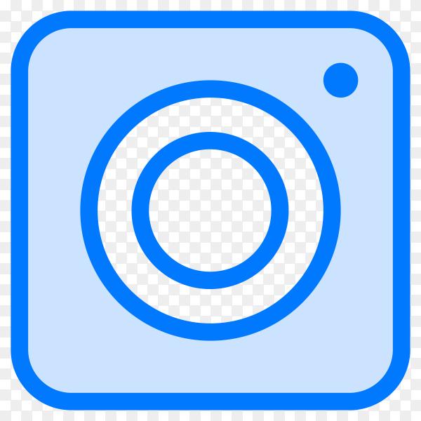 Blue instagram icon design on transparent background PNG