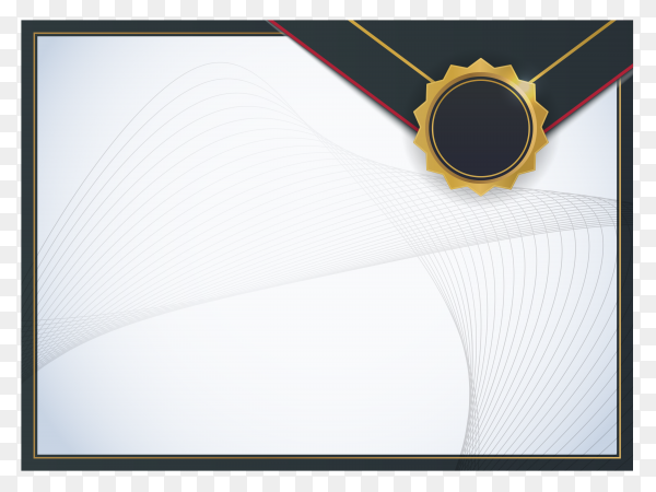 Certificate template illustration on transparent background PNG