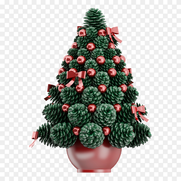 Christmas tree on transparent background PNG