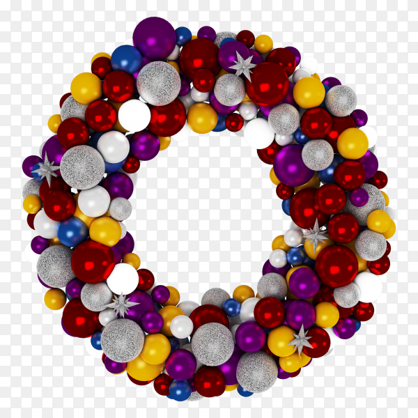 Christmas wreath isolated on transparent PNG