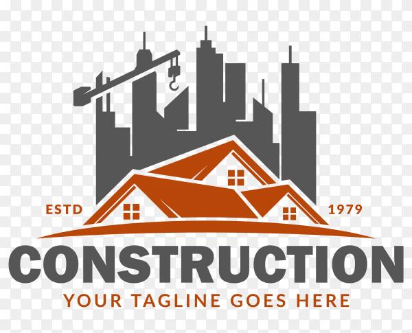 Construction logo template premium vector PNG