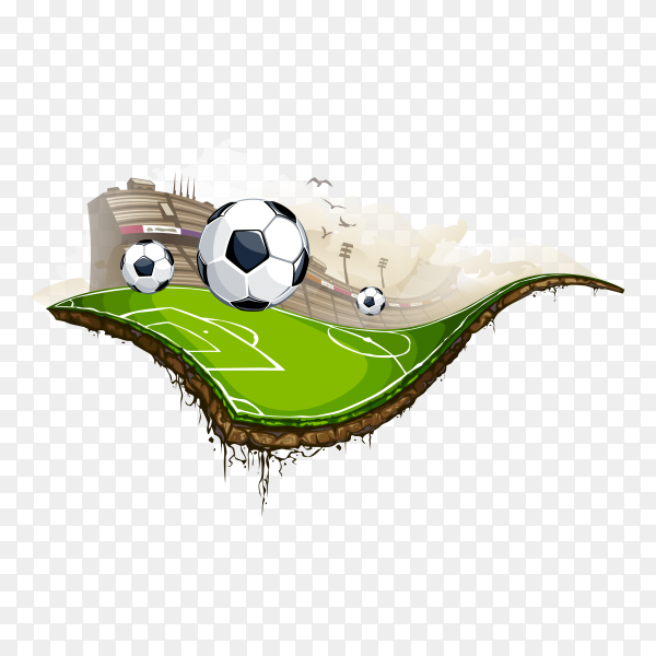 Creative football design premium vector PNG