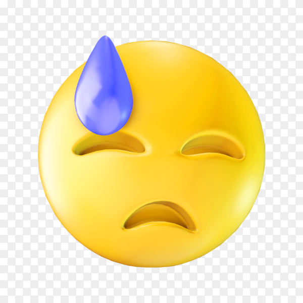 Dissapointed emoji face on transparent background PNG