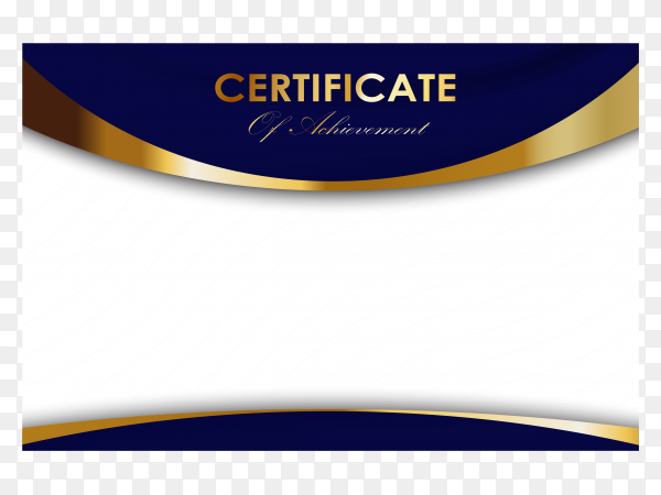 Education certificate template diploma luxury modern on transparent background PNG