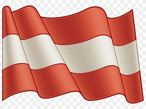Flag Of Austria on transparent background PNG