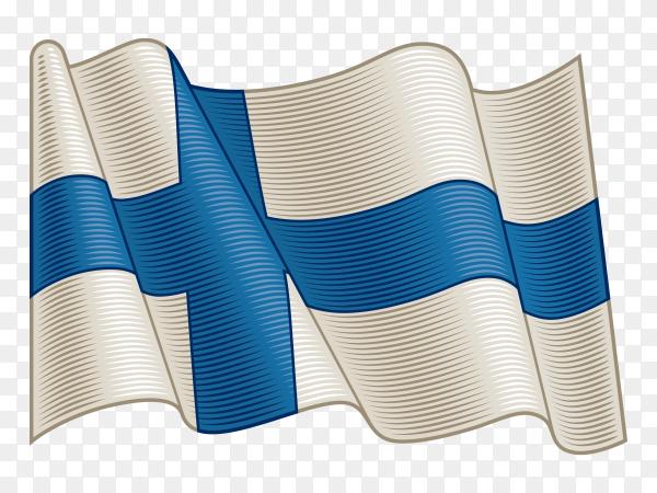 Flag Of Finland on transparent background PNG