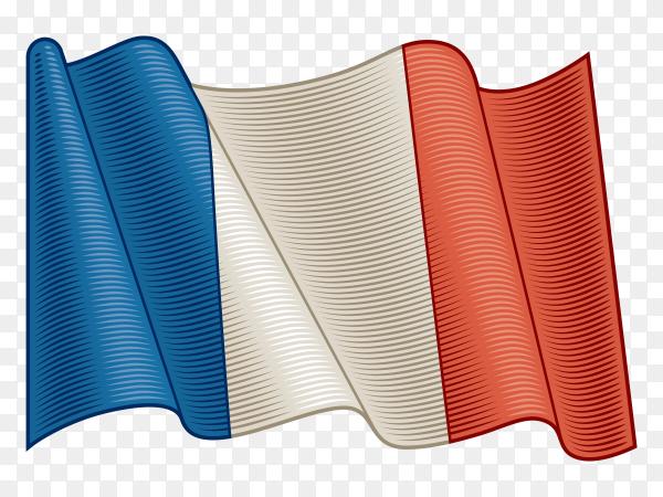 Flag Of France on transparent background PNG