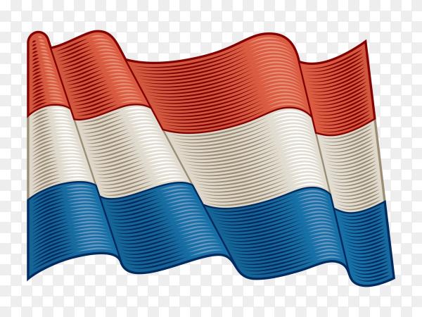 Flag Of Netherlands on transparent background PNG