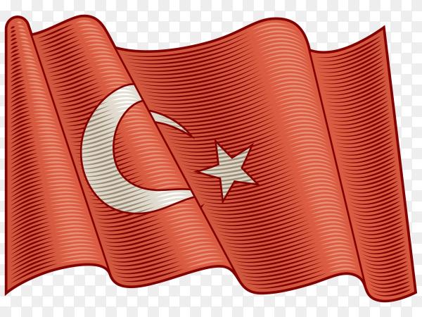 Flag Of Turkey on transparent background PNG