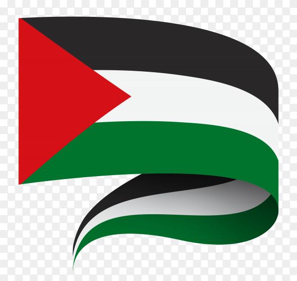Flag of Palestine Illustration on transparent background PNG