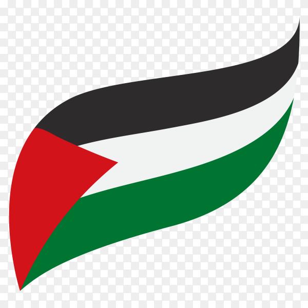Flag of Palestine on transparent background PNG