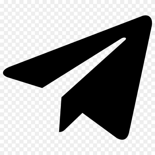 Flat design Telegram icon illustration on transparent background PNG