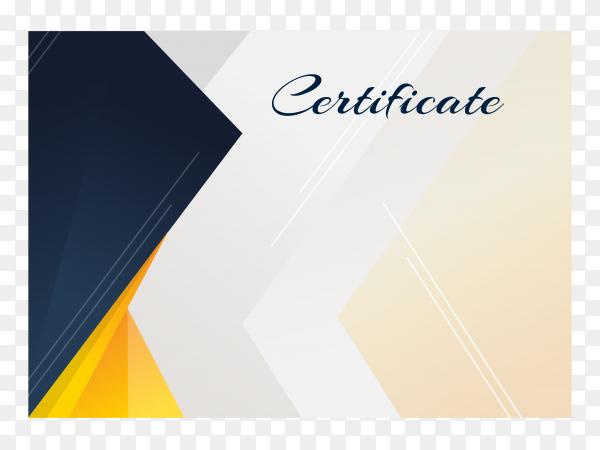 Flat design elegant certificate template on transparent background PNG