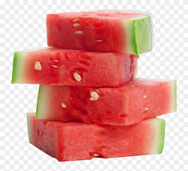 Fresh sliced watermelon on transparent background PNG