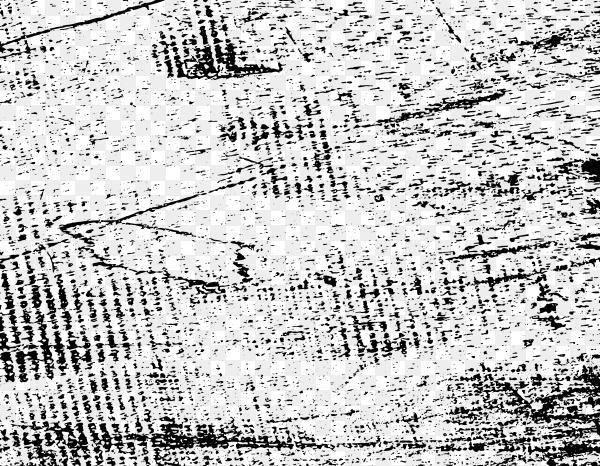 Grunge disressed texture on transparent PNG