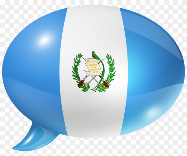 Guatemalan flag with speech bubble on transparent background PNG