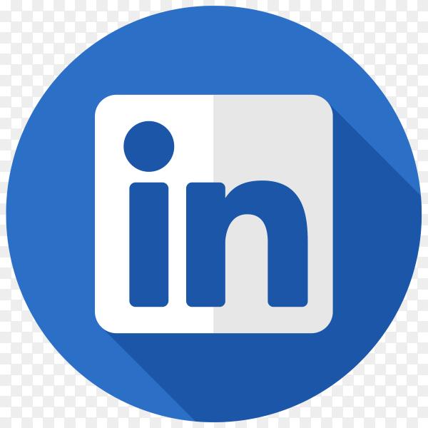 Illustration of Linkedin icon on transparent background PNG